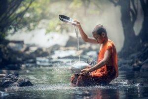 Spotaknie z mnichem w Tajlandii