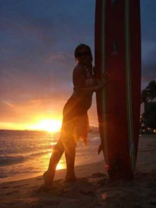 Serfing na Hawajach