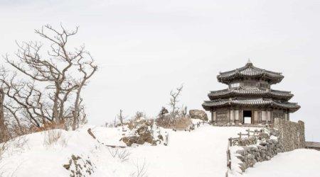 Podróż do Korei: świątynia w śniegu