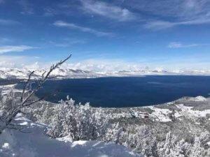 Widok na jezioro Tahoe Lake