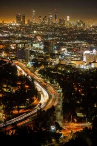 Nocna panorma Los Angeles
