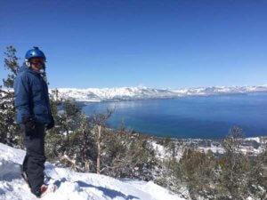 Narty nad Tahoe Lake