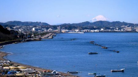 Plaża na wybrzeżu Shonan
