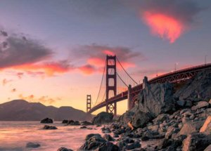Golden Bridge w San Franciscoo