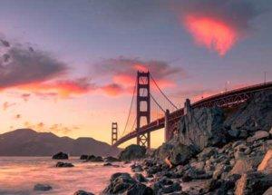 Słynny most w San Francisco